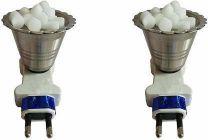 Sen Stainless Steel Electric Kapoor Dani Plastic Incense Holder (Pack of 2)