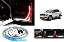 After Cars Kia Seltos Door Warning Car Strip Light 144 LED Interior Lights (Red, White) (Set of 2)