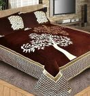 Fabric Empire Velvet Bedsheet and 2 Cushion Cover Top Quality for King Size (90 x 100 Inch)