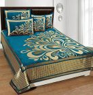 Fabric Empire Velvet Bedsheet and 2 Cushion Cover Premium for King Size (90 x 100 Inch)