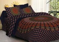 VINODTRADERS The KOS BADMERI Screen Print Cotton Double Bedsheet with two Pillow Covers | Pack of 1
