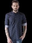 Men's Fashionable and Stylish Cotton Blend Printed Casual Kurta Shirt (Pack of 1)