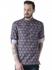 Men's Fashionable and Stylish Cotton Blend Printed Casual Kurta Shirt (Multi-Color) (Pack of 1)