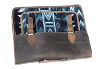 Khawaish Collection Leather 15.6 inch Printed Shoulder Messenger Sling Laptop Office Bag for Men & Women