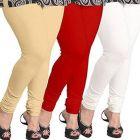 Women's Cotton Solid Color Leggings (Combo Set of 3)