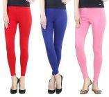 Women's Stylish Cotton Skinny Leggings Combo (Set of 3)