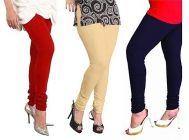 Women's Trendy Solid Cotton Leggings (Pack of 3)