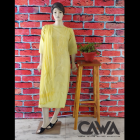 WACA Stylish & Trendy Cotton Suit Piece With Chikankari Embroidery with it comes a Lavishing Dupatta with Cirosia for Women's (Pack: Pack of 1) | (Color: Lemon Yellow)