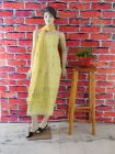 WACA Stylish & Modish 100% Cotton Suit Piece with Chikankari Embroidery with it comes a Lavishing Chiffon Dupatta with a Cirosia Border for Women's (Pack of 1)   (Color: Lemon Yellow)