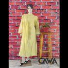 WACA Stylish & Modish Cotton Pre-stitched Anarkali with Chikankari Embroidery with it comes a Lavishing Chiffon Dupatta with Chikankari work & a Cirosia Border for Women (Color: Lemon Yellow)