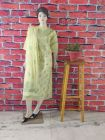 Cawa Fashionable & Trendy Kota Suit Piece with Chikankari Embroidery with it Comes a Lavishing Embroidered Dupatta for Women's (Color: Lime Green) | (Pack of 1)