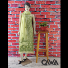 WACA Stylish & Modish Gorgette Suit Piece With Chikankari Embroidery with it comes a Lavishing Dupatta for Women's (Pack: Pack of 1) | (Color: Lime Green)