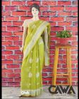 WACA Stylish & Trendy Saree with Chikan Embroiderywhich comes Inclusive of a Blouse Piece for Women's (Pack: Pack of 1) | (Color: LIme Green)