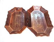 Livster Serving Tray Set Perfect for Gift 2 Tray (Brown)