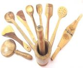 Livster 9 Kitchen Tool Set For Home (Brown)