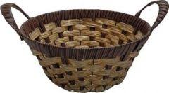 Livster Wooden Microfibre Fruit & Vegetable Basket For Kitchen Storage & Organization (Brown) (LWB03)