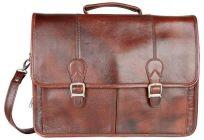 ASPENLEATHER Designer Red Genuine Leather Laptop Bag For Men
