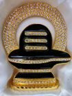 Livster Brass Shivling Snake Idols, Gold Decorative Showpiece (5 cm)