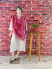 WACA Stylish & Modish Bhagalpuri Silk Cloth Dupatta with Chikankari Work with a Zari Border for Women's (Pack of 1)   (Color: Magenta)