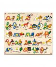 MohitEnterprises | Toddler Toys Cursive Alphabet Wooden Tray With Picture | Pack of 1