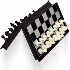 Folding Smooth Surface Magnetic Chess Board Black And White, 9.5-Inch (Pack Of 1)