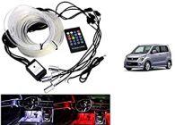 After Cars Maruti Suzuki Wagonr 2009 Car Dashboard Interior Light with Optic Fiber Cable, EL Neon Strip Light (RGB color)