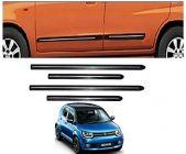 After Cars Maruti Suzuki Ignis Car Black Side Beading with Chrome Line Set of 4