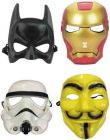 PTCMART Mask For Boys and Girls And Play Role Party Mask (Multicolor, Pack of 4)
