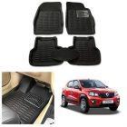 After Cars Black Carpet Floor/Foot 4D, Mats for Renault Kwid