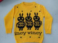 FASHION Full Sleeves Softfeel Acrylic Baby Kids Yellow Sweaters (Pack of 1)