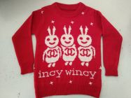 FASHION Full Sleeves Softfeel Acrylic Baby Kids Sweaters Red (Pack of 1)