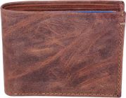 Men Brown Genuine Leather RFID Wallet-Tishta-118