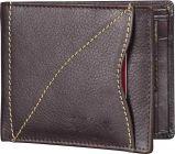 Men Brown Genuine Leather RFID Wallet-Tishta-002