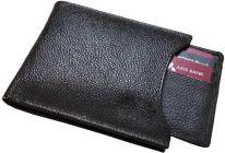 Men Black Genuine Leather RFID Wallet  (14 Card Slots)
