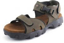 AUSTINJUSTIN Top Grain Synthetic Material Casual Sandals With Tpr Sole For Men (Color-Olive)