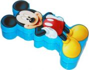 SKI Easy carry Mickey Mouse Art Plastic Pencil Box  (Set of 1) (Blue)
