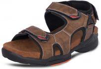 AUSTINJUSTIN Self Design Top Grain, Velcro Closure Airmix Sole Casual Sandal For Men (Color-Brown)