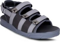 AUSTINJUSTIN Self Design Top Grain, Velcro Closure Airmix Sole Casual Sandal For Men (Color-Grey)