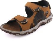 Graphic Print, Synthetic Material Top Grain, Goat Skin, Casual, Tpr Sole Sandals For Men (Color-Khakhi)