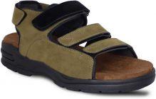 AUSTINJUSTIN Self Design, Velcro Closure, Top Grain, Airmix Sole, Synthetic, Casual Sandal For Mens (Color-Olive)