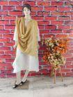 WACA Stylish & Modish Bhagalpuri Silk Cloth Dupatta with Chikankari Work with a Zari Border for Women's (Pack of 1) | (Color: Mustard)