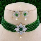 JAIPURICRAFT High-Quality Alloy Shimmering And Fancy Necklace & Earring Set With Gold Plated For Women's