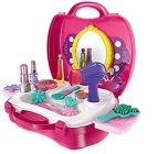 Toys Makeup kit with Portable Makeup Suitcase for Girls (Pack of 1)