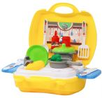 Luxury Kitchen Set Cooking Toy with Briefcase and Accessories for Kids (Pack of 1)