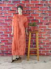 WACA Trendy & Fashionable Creamsicle 100% Cotton Suit Piece With Chikankari Embroidery with a Gala Chikankari work for Women's (Pack of 1)   (Color: Orange)