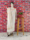 WACA Stylish & Modish Dyeable fancy Chanderi Suit Piece With Chikankari Embroidery for Women's (Pack of 1)   (Color: Pearl White)