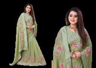 Bagrecha Creation Pakijja, Vichitra Fabric Saree with Sateen Bangalore Fabric Blouse (Saree: 5.5 MTR) (Blouse: 1 MTR)