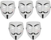PTCMART Party V For Vendetta Comic Mask For Party Party Mask  (Multicolor, Pack of 5)