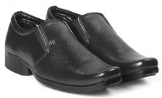 Bxxy Men's Faux Leather Office Wear Moccasin Formal Slip-on Shoes
