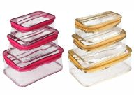 Unicrafts Multipurpose Vanity Box   Makeup Jewellery Organizer   Transparent Vanity Pouches for Cosmetic Necklace (Pack Of 6)